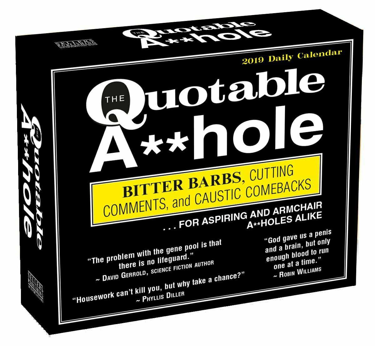 2019 Quotable Ahole Page A Day Box Desk Calendar Brand New