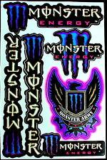 3 Sheet scooter motocross Stickers atv mx Decal Energy Rockstar BMX Bike MB army