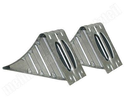 2x ALKO AL-KO Unterlegkeil Hemmschuh Metall verzinkt 1600kg 120mm breit  UK 36