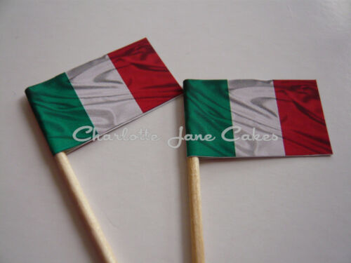 RBS 6 NATIONS RUGBY COUNTRY FLAGS 20 CUPCAKE FLAGS//TOPPERS