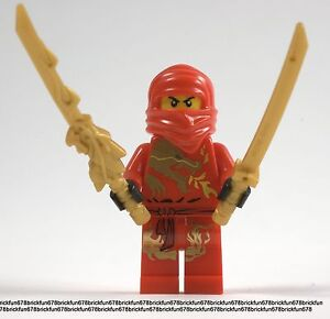 Lego-New-Ninjago-Red-Ninja-KAI-DX-Dragon-Minifigure-mini-figure-w-Dragon-Sword