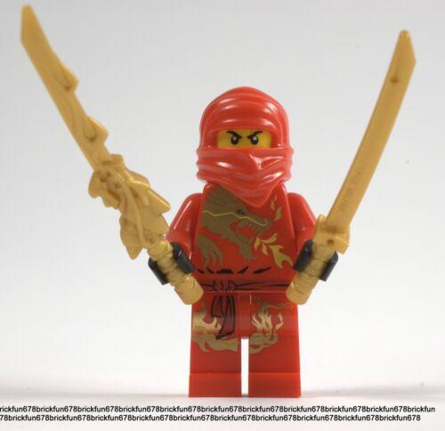 Lego New Ninjago Red Ninja KAI DX Dragon Minifigure mini figure w//Dragon Sword