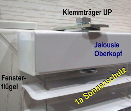 Klemmträger u-Perfil de metal persiana persiana plisado soportes de fijación sin taladrar 1stk