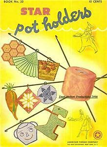 1944 Star Book # 32 Pot Holders on CD with Recipes