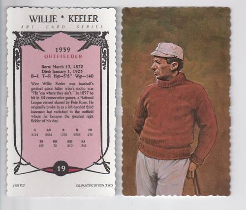 WEE WILLIE KEELER Yankees RGI//Ron Lewis deckle edge limited edition art card