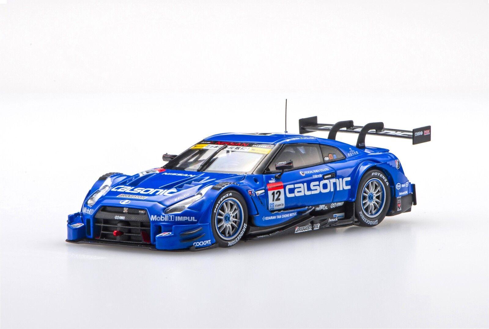 Ebbro 45398 1 43 Calsonic Impul Gt-r Super GT GT 500 2016 RD 2 Fuji Nº 12 blu