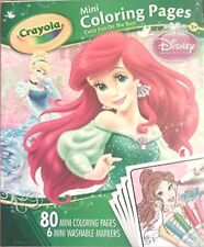 Disney Princess Crayola 80 Mini Coloring Pages Plus 6 Washable