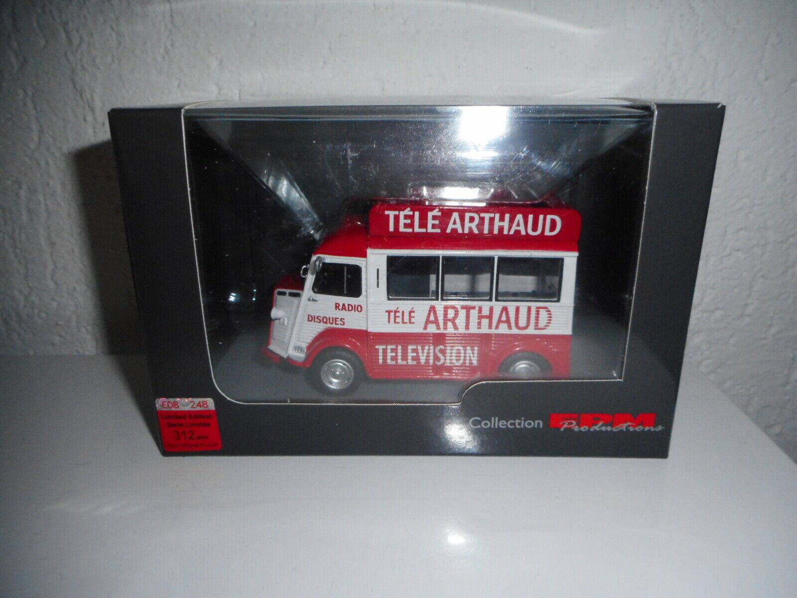 Raro Epm Producción Citroen Tipo H TV Arthaud Edición Limitada 1 43