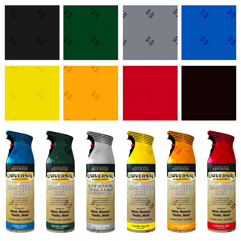 Details About Rust Oleum Universal All Surface Aerosol Spray Paint Hammered Metallic Gloss