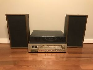 Realistic-Clarinette-105-Receiver-Cassette-AM-FM-Phono-Turntable-Speakers