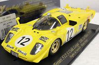 Fly C28 Ferrari 512s Le Mans 1970 1/32 Slot Car In Display Case Rare