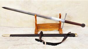 Handmade-European-Medieval-Sword-Broadsword-1095-Carbon-Steel-Functional-Sharp
