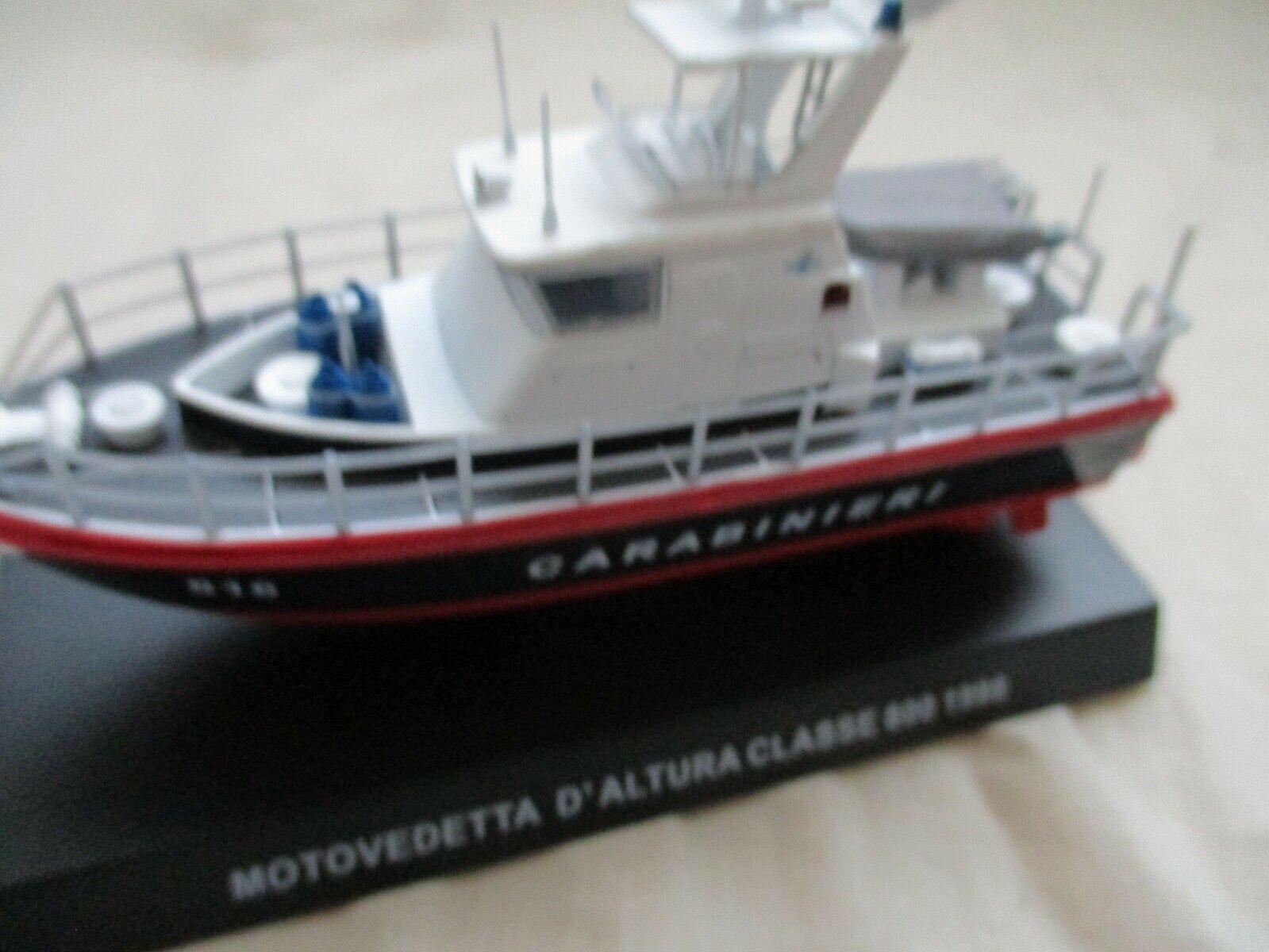 MINIATURE VEDETTE MOTOVEDETTA ALTURA CLASSE 800  CARIBINIERI 1 43° POLICE ITALIE