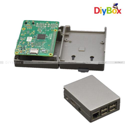 Grey Aluminum Alloy Metal RPi Case Box for Raspberry Pi 3 Pi 2 Model B and B+