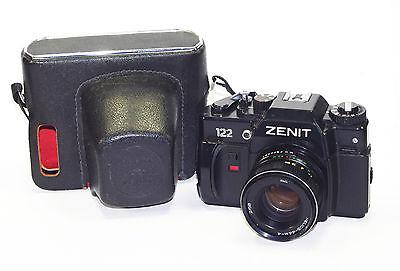 ZENIT 122 Russian 35mm SLR camera USSR w/ lens HELIOS 44M-4 M42 GOOD Cond