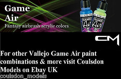 Acrylic Airbrush Paints - Vallejo Game Air Pick Any 2 x 17ml Colours / Aux