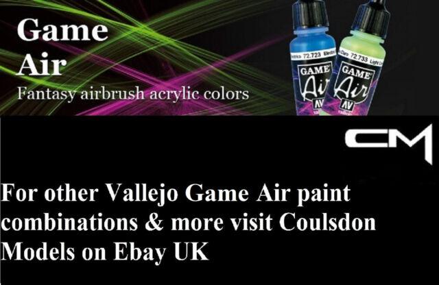 Vallejo game air acrylique fantasy aérographe peintures choisissez tout 5 x 17ml bouteilles