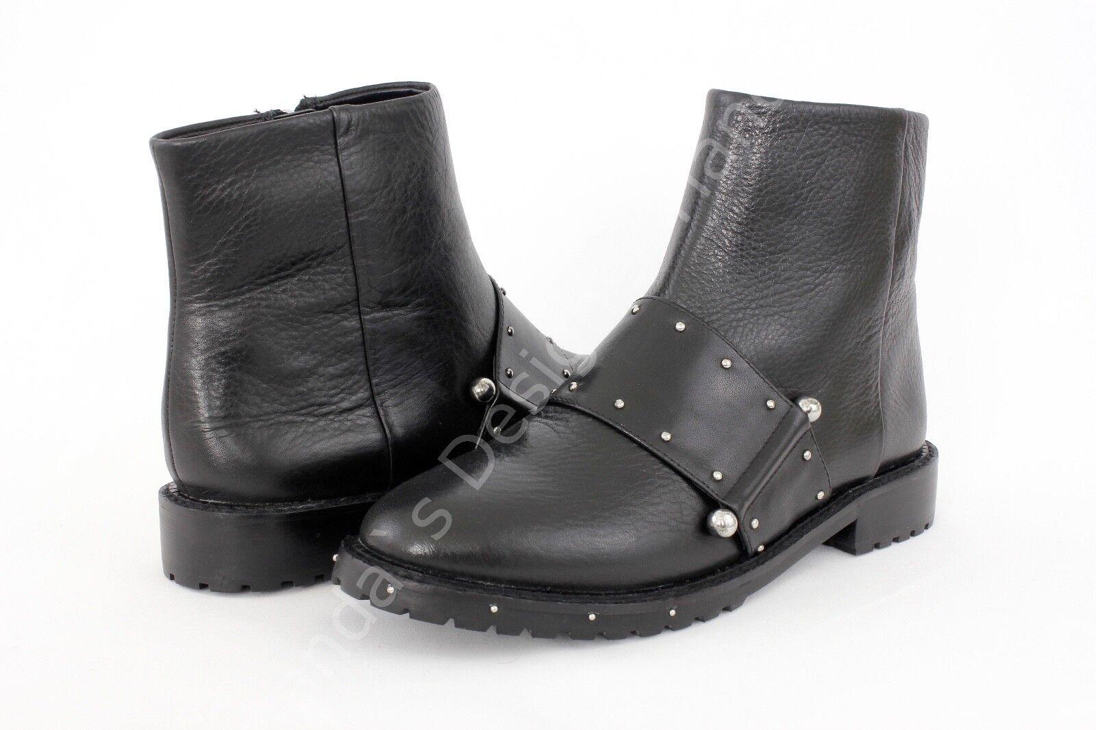 Avec Les Filles Graham Studded Black Ankle Booties Size 6.5