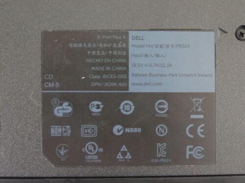 Dell PRO2X Extended Port Replicator Legacy Ports USB 3.0 serial parallel PS//2