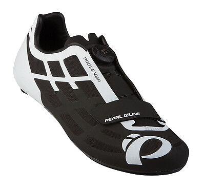 Pearl Izumi P.R.O. PRO Leader II Carbon Road Bike Shoes Black/White 45