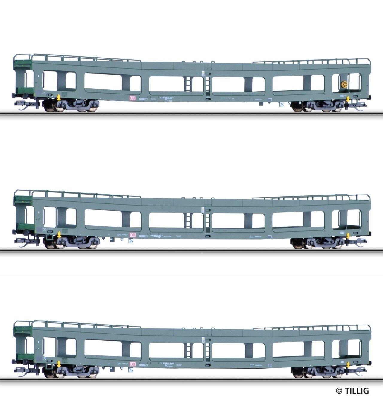 Tillig TT scale Set of 3 Automobile transport cars DB