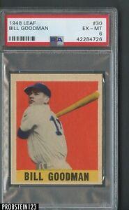 1948-Leaf-30-Bill-Goodman-Boston-Red-Sox-RC-Rookie-SP-PSA-6-EX-MT