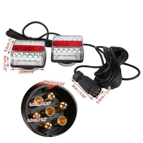 LED Anhänger Abschlepp Lightboard Licht Magnetische Heckleuchte mit 10m Kabel