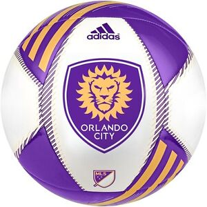 Adidas 2015 Mls Capitano Orlando City Sc Soccer Ball White Purple Gold Ebay
