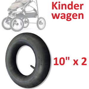 SCHLAUCH 10 x 2 ZOLL GERADEN VENTIL SCHRADER TRETROLLER KINDERWAGEN PRAM KINDER