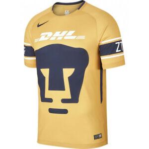 Nike UNAM Pumas Season 2017 - 2018 Third Soccer Jersey New Gold ... 82fee0861
