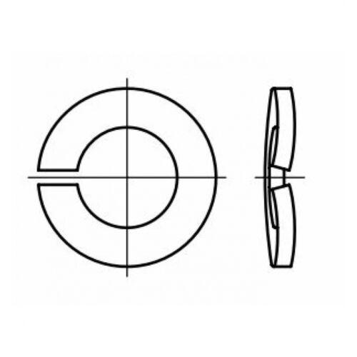 10,2x18,1x1,8 Stahl mechanisch verzin gewölbt 10 DIN 128 Federring Form A
