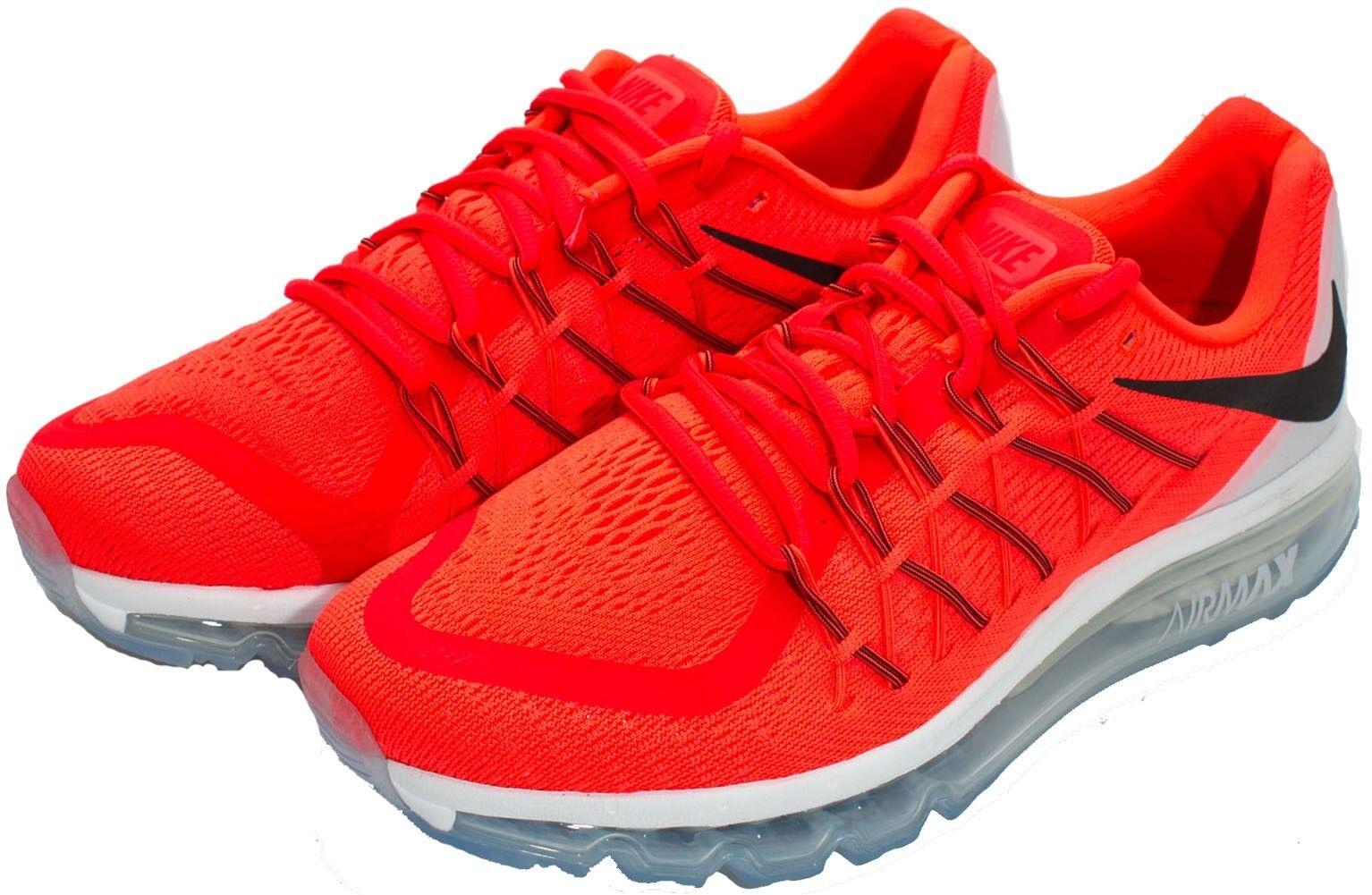 Size 10.5     11   12 Nike Men Air Max 2015 shoes 698902 600 Crimson orange White fde7c2