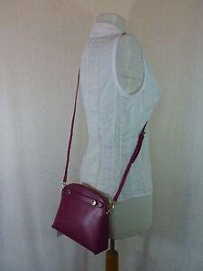 34d747a62d0 Details about NWT FURLA Raspberry Pink/Red Saffiano Lthr Mini Piper Cross  Body Bag $208
