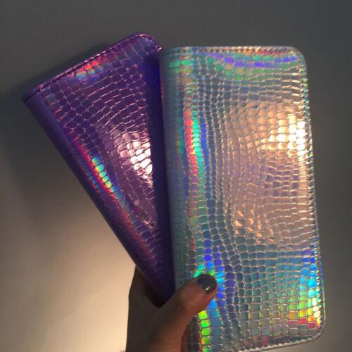 Damen Geldbörse Portemonnaie Geldbeutel Laser Lange Reißverschluss Handtasche