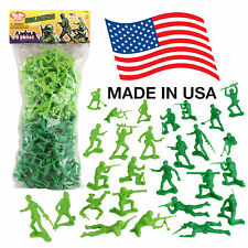 TimMee Processed Plastic Army Men: 96 Green vs Green Tim Mee Toy Soldier Figures