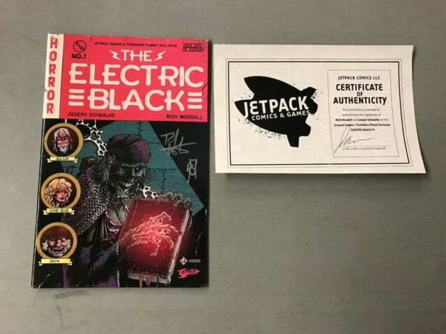 ELECTRIC BLACK 1 AUTOGRAPHED JETPACK COMICS EXCLUSIVE VARIANT Scout Comics HOT