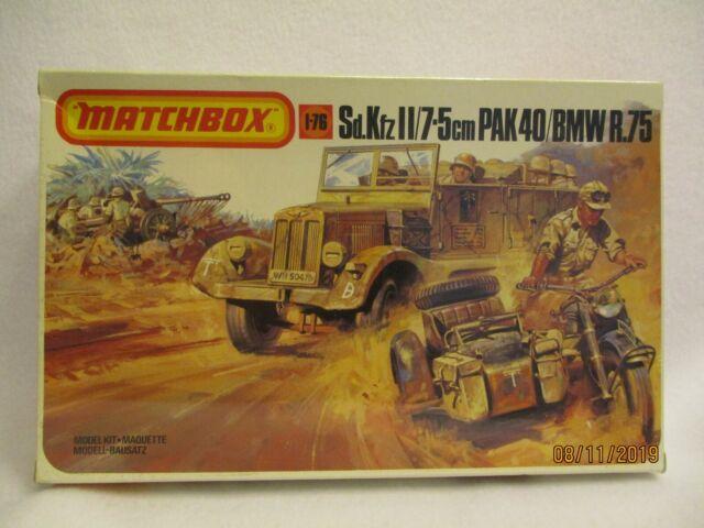 Matchbox Sd.Kfz II Halftrack //7.5cm Pak 40 //BMW R.75 1//76 PK-171