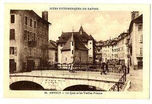 CPA 74 Haute-Savoie Annecy Le Quai et les Vieilles Prisons animé
