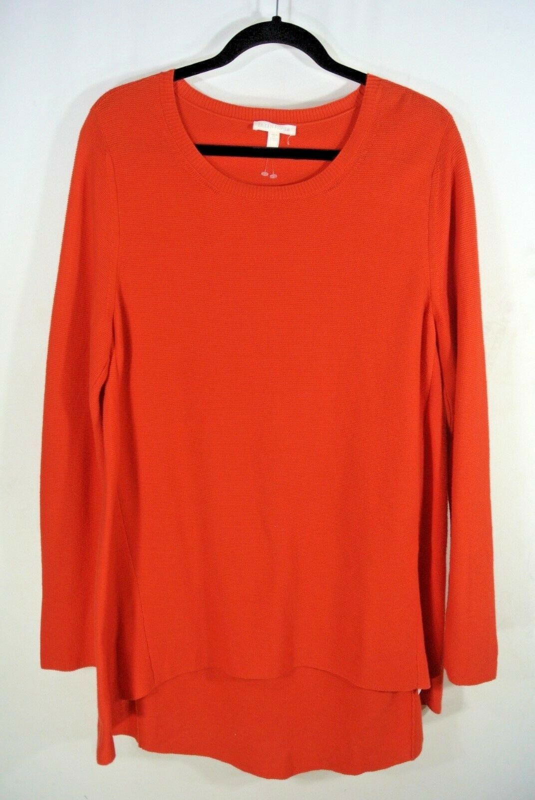 NEW Eileen Fisher Peruvian Organic Cotton Tunic, High-Low Hem in Lava - Größe M