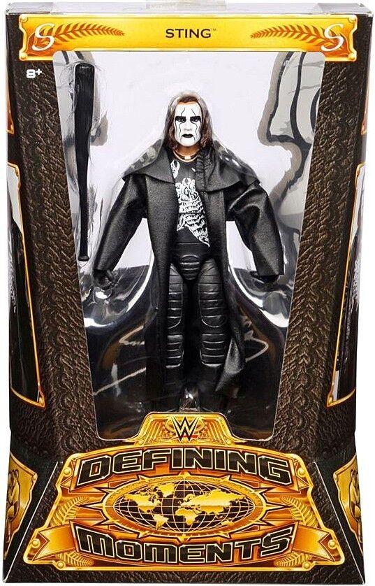 Definición de momentos Sting WWE lucha libre figura de acción [Negro Gabardina & Bat]