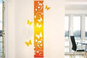Wandborduere-3-Schmetterling-Wandtattoo-Raum-Aufkleber-Borduere-Sommer-Neu