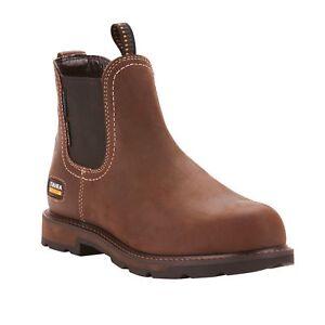 Ariat® Men's Groundbreaker Chelsea H20 Steel Toe Brown Boots 10024983
