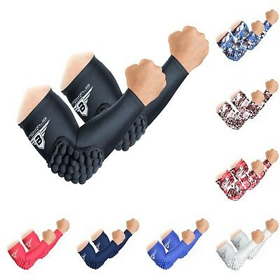 1 Pair Bucwild Sports Padded Elbow Arm Sleeves for Basketball Football Volleyball Youth /& Adult Size Pads