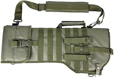 Deluxe MOLLE Shoulder Sling Tactical 556 Rifle Scabbard Case Green NCStar VISM