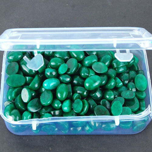 1918 Cts/203 Pcs Exclusive Natural Rich Green Emeralds ~ Oval Cabochon Gemstones
