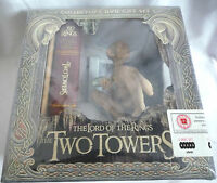 LORD OF THE RINGS / THE TWO TOWERS DVD COLLECTORS SET / SEALED /WITH WETA STATUE