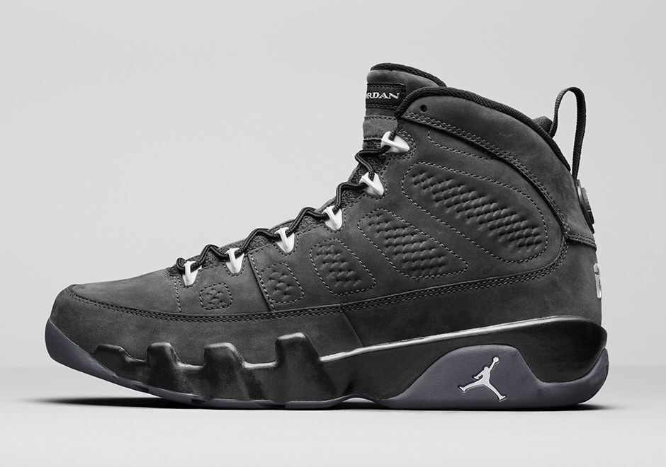 2018 nike air jordan 9 ix retro - anthrazit größe 9,5.302370-013 1 2 3 4 5 6