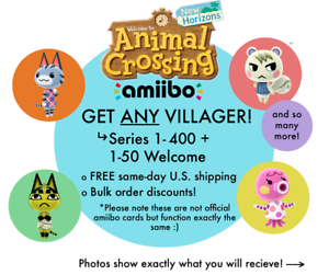 ANY-Animal-Crossing-Villager-Amiibo-NFC-Cards-w-Plastic-Sleeve-Free-Shipping