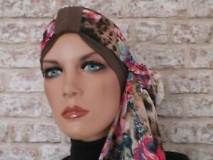 Leukemia Chemo Jersey Hat Headwear  Turban and scarf for hair loss Cancer