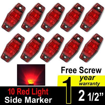 "10pc Red Amber 3.6/"" 4LED Smoked lens Side Led Marker Light Truck Trailer Boat RV"